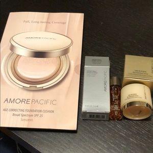 AmorePacific cream essence serum foundation set x3